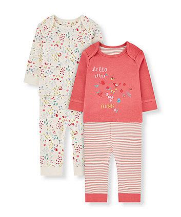 Mothercare Floral Little Friends Pyjamas - 2 Pack