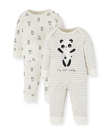Mothercare Panda Pyjamas - 2 Pack