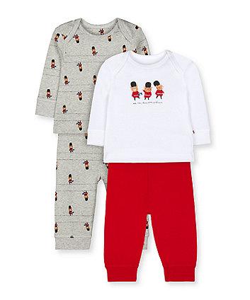 Mothercare London Bear Guardsman Pyjamas - 2 Pack