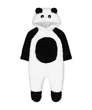 Mothercare Panda Fluffy All In One