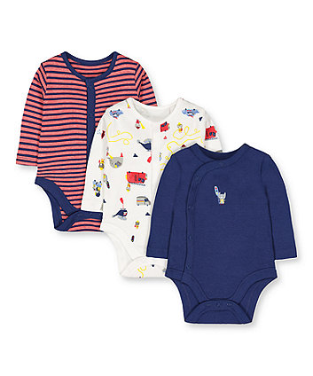 Mothercare Rescue Bodysuits - 3 Pack
