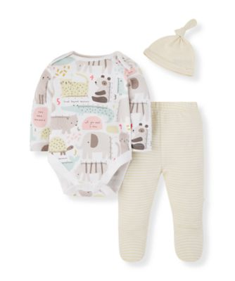Mothercare Mummy And Daddy Mummy And Daddy Animal Bodysuit, Leggings And Hat - 3 Pieces Set