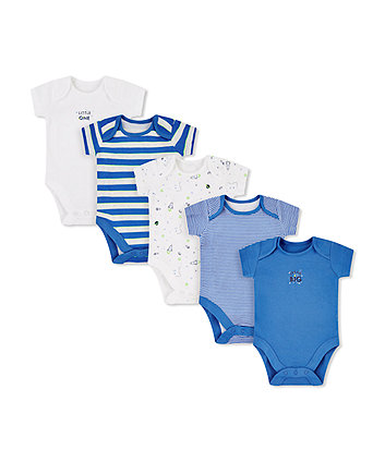 Mothercare Little Space Bodysuits - 5 Pack