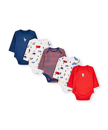 Mothercare Little Rescue Animals Bodysuits - 5 Pack