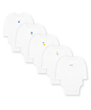 Mothercare Little Monsters Bodysuits - 5 Pack