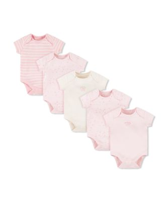 Mothercare Pink Mummy And Daddy Short Sleeve Bodysuits - 5 Pack