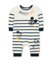 Mothercare Disney Mickey Mouse Stripe All In One