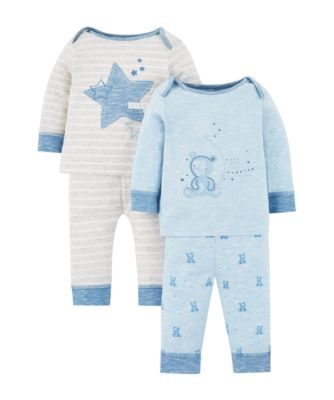 Mothercare My First Little Bear Pyjamas - 2 Pack