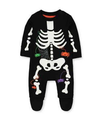 Mothercare Halloween Skeleton All In One