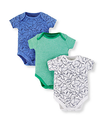 Mothercare Dinosaur Friends Bodysuits - 3 Pack