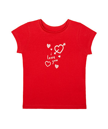 Mothercare Red I Love You T-Shirt