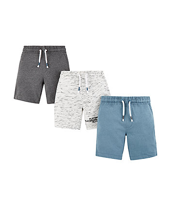 Mothercare Playground Rules Shorts - 3 Pack