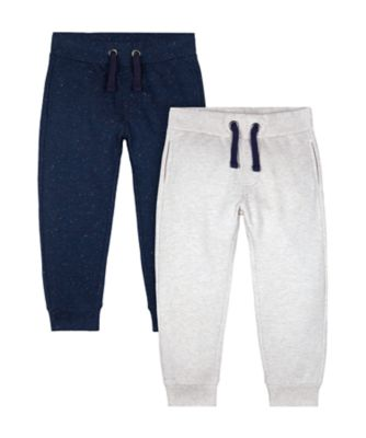 Mothercare Prairie Grey And Navy Joggers - 2 Pack