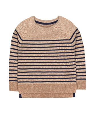 Mothercare Prairie Brown Striped Knitted Jumper