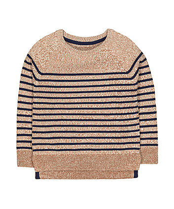Brown Striped Knitted Jumper