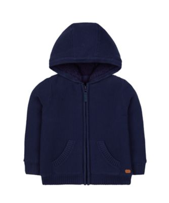 Mothercare Prairie Knitted Hoodie With Fleece Lining