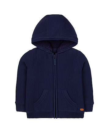 Mothercare Knitted Hoodie With Fleece Lining