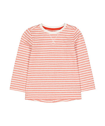 Mothercare Orange Striped T-Shirt