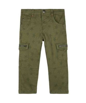 Mothercare Autumn Camp Khaki Star Woven Trousers