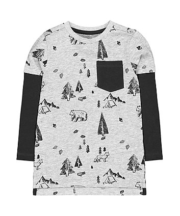 Mothercare Grey Outdoor Camping Adventure T-Shirt