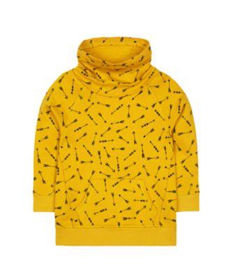 Mothercare Autumn Camp Mustard Arrow Cowl-Neck Sweat Top