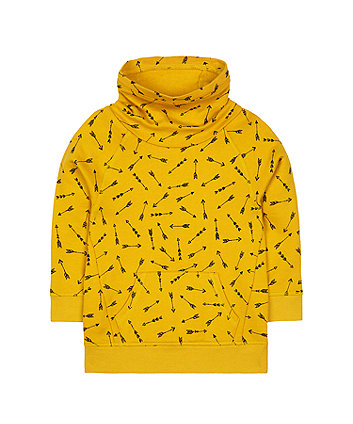 Mothercare Mustard Arrow Cowl-Neck Sweat Top