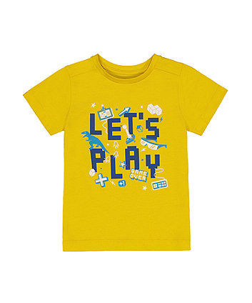 Mothercare Yellow LetS Play Game Over T-Shirt