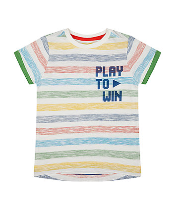 Mothercare Stripe Play To Win T-Shirt