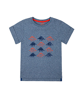 Mothercare Red And Blue Sequin Dinosaur T-Shirt