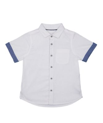 Mothercare Tech White Chambray Trim Shirt