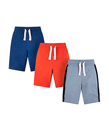 Mothercare Orange And Blue Shorts - 3 Pacl
