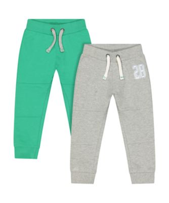 Mothercare Motor Mash Up Grey And Green Joggers - 2 Pack