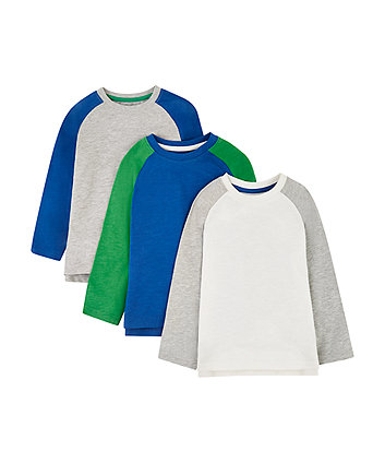 Raglan Sleeve T-Shirts - 3 Pack