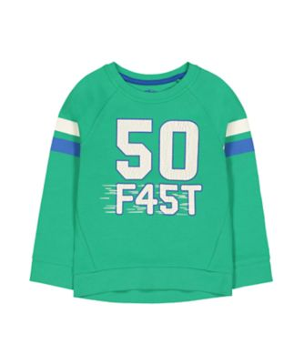 Mothercare Motor Mash Up 50 Fast Sweat Long Sleeve Top