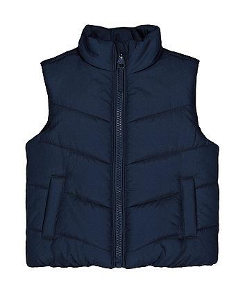 Navy Fleece-Lined Gilet