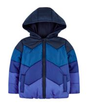 Mothercare Blue Chevron Fleece-Lined Jacket