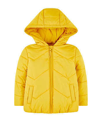 Mothercare Yellow Padded Jacket With Fleece Lining
