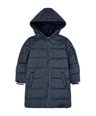 Mothercare Outerwear Navy Longline Padded Coat
