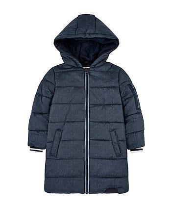 Mothercare Navy Longline Padded Coat