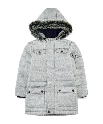Mothercare Outerwear Grey Longline Padded Coat