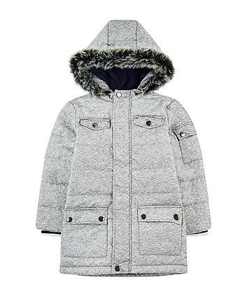 Mothercare Grey Longline Padded Coat