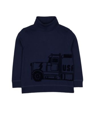 Mothercare Prairie Navy Truck Roll Neck Top