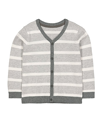 Mothercare Grey Stripe Cardigan