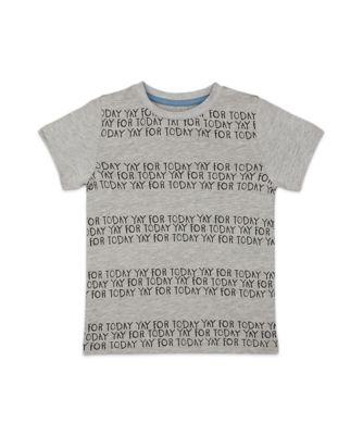 Mothercare Soft Visionary Grey Yay Today Short Sleeve T-Shirt
