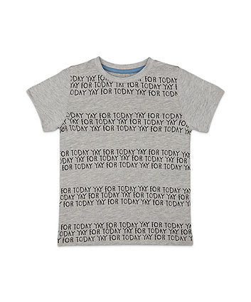Mothercare Grey Yay Today T-Shirt