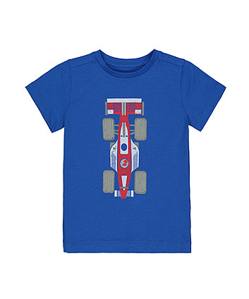 Mothercare Blue Racing Car T-Shirt