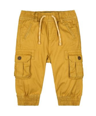 Mothercare Autumn Camp Mustard Cargo Trousers