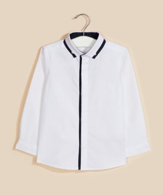 Mothercare Special Collection White Squares Long Sleeve T-Shirt