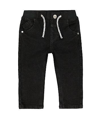 Mothercare Black Rib Waist Jeans