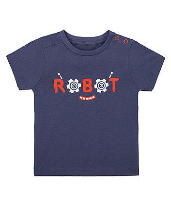 Mothercare Navy Robot T-Shirt